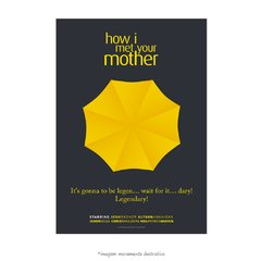 Poster Yellow Umbrella - How I Met Your Mother - QueroPosters.com