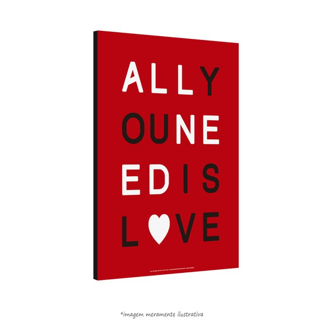 Poster All You Need Is Love - The Beatles - QueroPosters.com