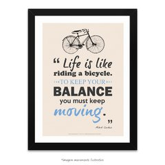 Poster Life Is Like Riding A Bicycle - Albert Einstein - comprar online