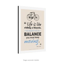 Poster Life Is Like Riding A Bicycle - Albert Einstein - QueroPosters.com