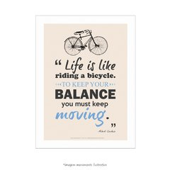 Poster Life Is Like Riding A Bicycle - Albert Einstein - loja online