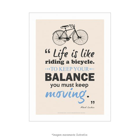 Poster Life Is Like Riding A Bicycle - Albert Einstein