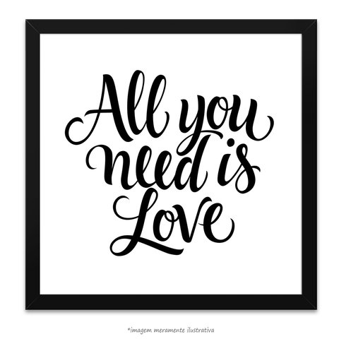 Poster All you need is love - The Beatles