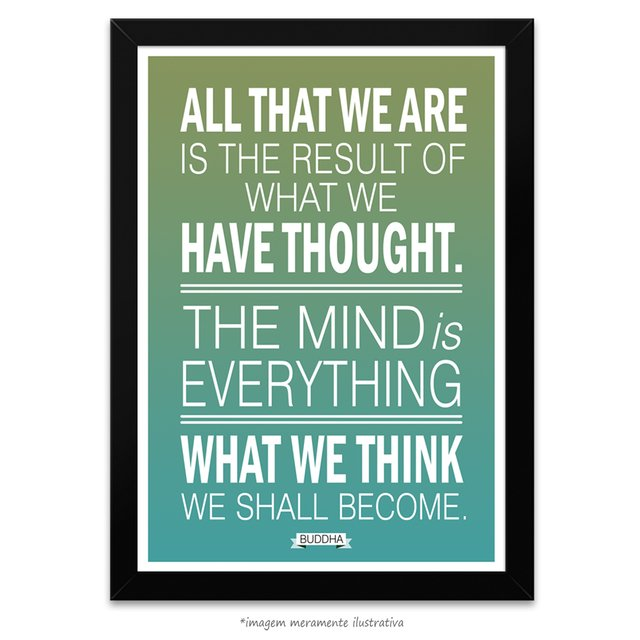 Poster What We Think We Shall Become Buddha - Maharishi Mahesh Yogi