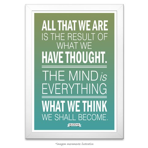 Poster What We Think We Shall Become Buddha - Maharishi Mahesh Yogi - comprar online