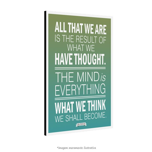 Poster What We Think We Shall Become Buddha - Maharishi Mahesh Yogi na internet