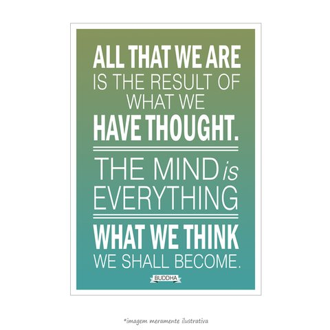 Poster What We Think We Shall Become Buddha - Maharishi Mahesh Yogi - QueroPosters.com