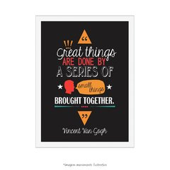 Poster Great Things Are Done by a Series... Vincent Van Gogh - loja online