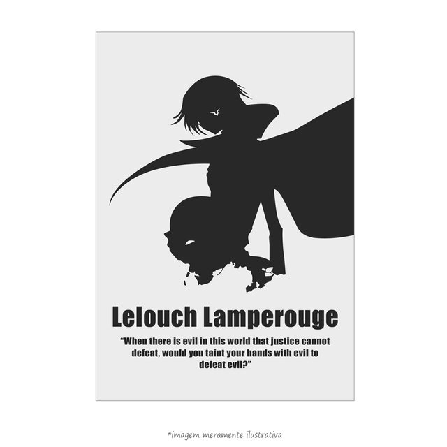 Poster Lelouch Lamperouge - Sunrise, Code Geass - Lelouch of the Rebellion - QueroPosters.com
