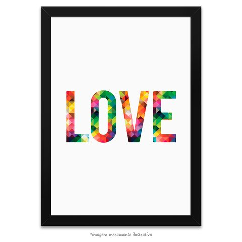 Poster LOVE - Abstract Geometric