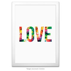 Poster LOVE - Abstract Geometric na internet