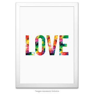 Poster LOVE - Abstract Geometric - comprar online