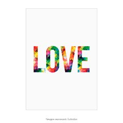 Poster LOVE - Abstract Geometric - loja online