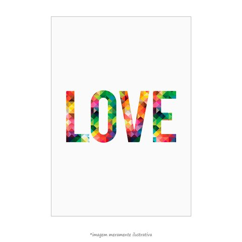 Poster LOVE - Abstract Geometric - QueroPosters.com