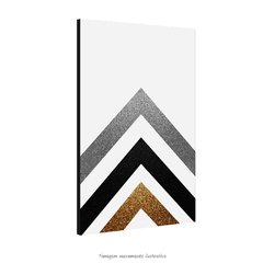 Poster Gold Printable Geometric Art - QueroPosters.com