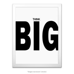 Poster Think Big na internet