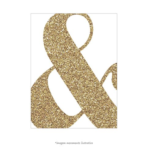 Poster Ampersand Glitter - QueroPosters.com