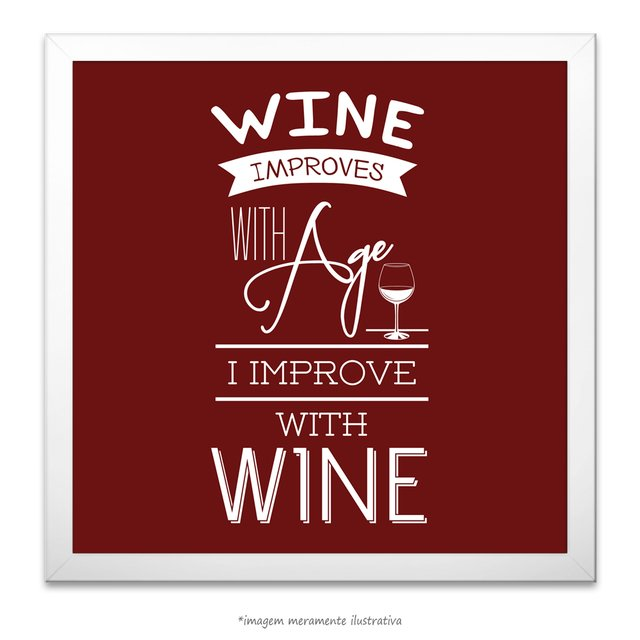Poster Wine Improves With Age I Improve With Wine - comprar online