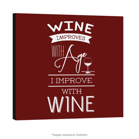 Poster Wine Improves With Age I Improve With Wine na internet
