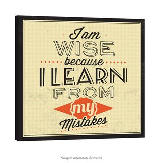 Poster I Am Wise Because I Lean From My Mistakes na internet