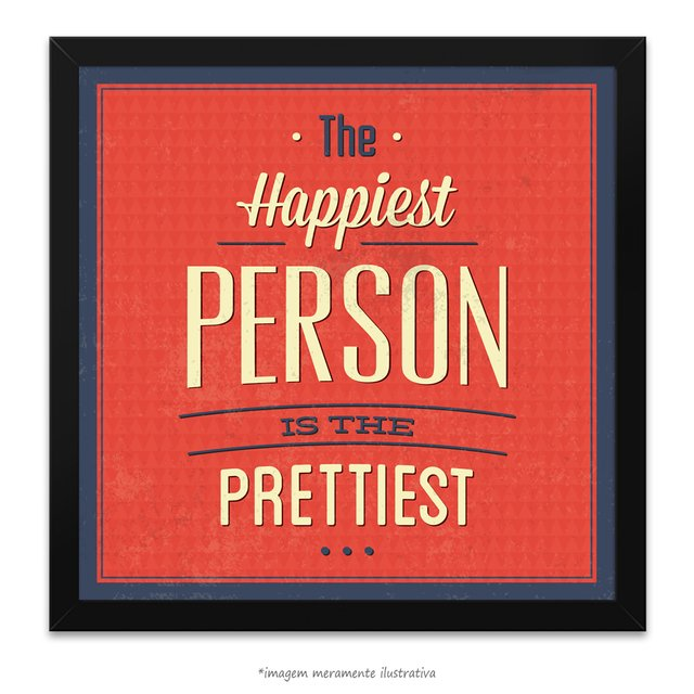 Poster The Happiest Person is The Pretties