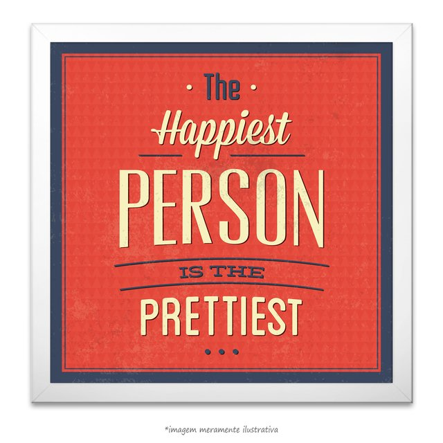 Poster The Happiest Person is The Pretties - comprar online