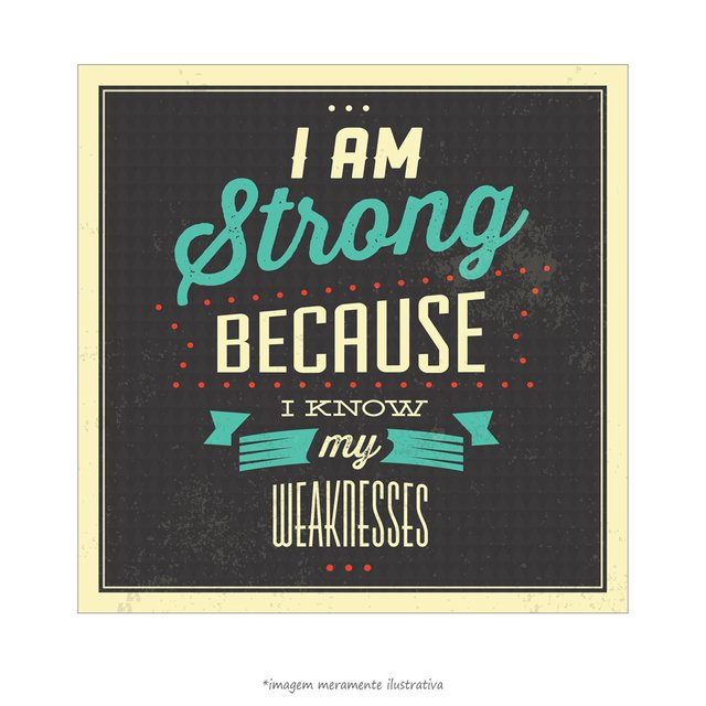 Poster I am Strong Because I know my Weaknesses