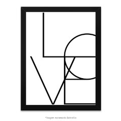 Poster Love Words Escandinavo - comprar online