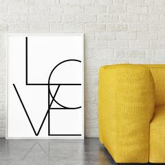 Poster Love Words Escandinavo