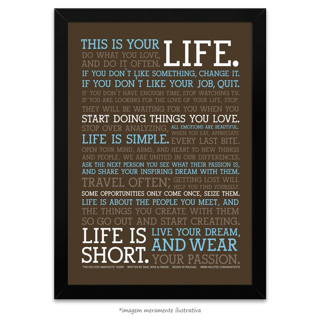 Poster Manifesto - This is your Life - vs Marrom