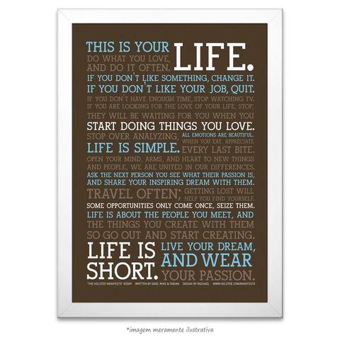 Poster Manifesto - This is your Life - vs Marrom - comprar online