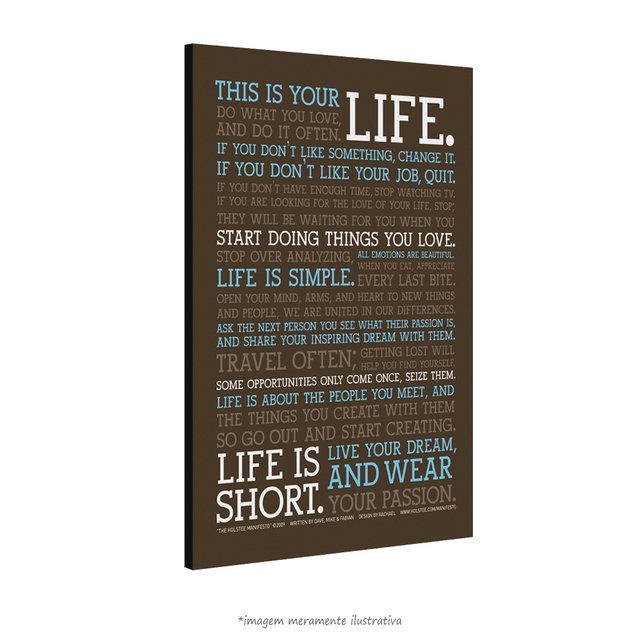 Poster Manifesto - This is your Life - vs Marrom na internet