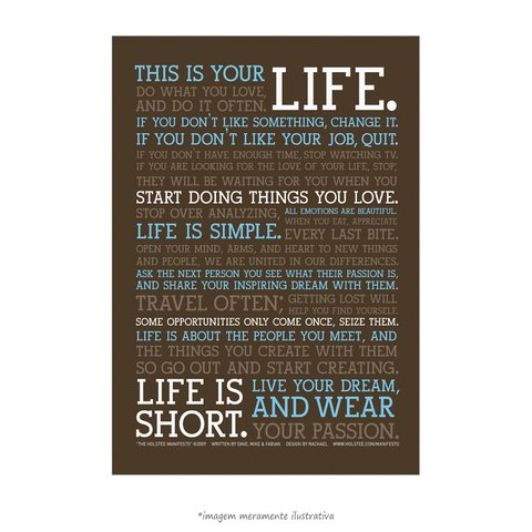 Poster Manifesto - This is your Life - vs Marrom - QueroPosters.com