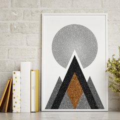 Poster Gold Printable Geometric Art - II