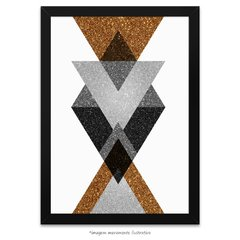 Poster Gold Printable Geometric Art - III - comprar online