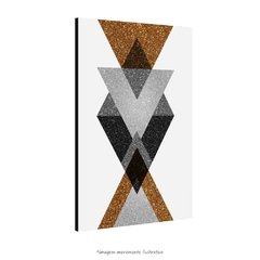 Poster Gold Printable Geometric Art - III - QueroPosters.com