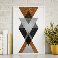 Poster Gold Printable Geometric Art - III