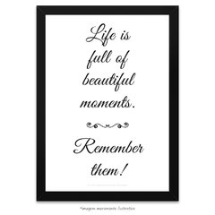 Poster Life is Full of Beautiful Moments - comprar online