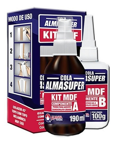 5 Unidades Kit Mdf 290 Ml Almasuper