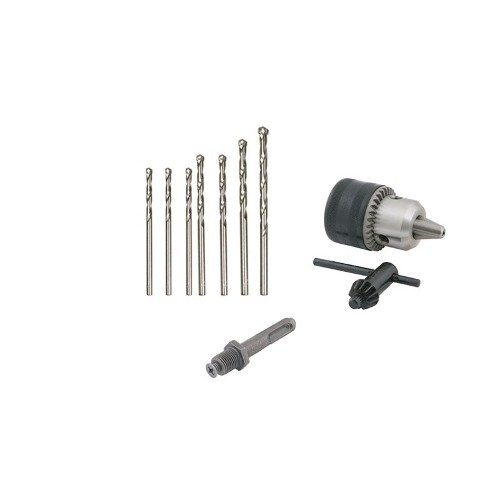 Kit 9 Pcs Brocas Concreto Adaptador Sds Mandril 1/2  13mm