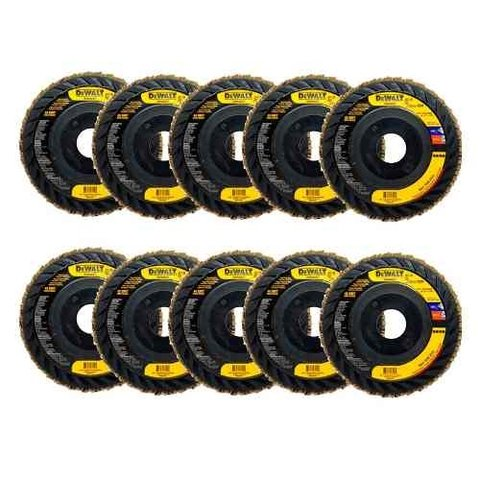 Kit 10 Disco Flap Dual Trim 4 1/2 X 7/8 Gr40 Dw8408t Dewalt