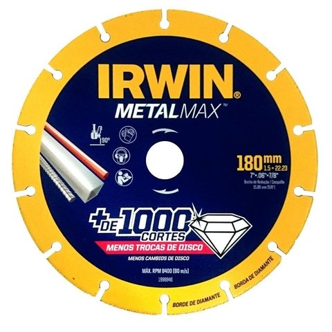Disco Corte Diamantado Metalmax 7 180 x 7/8 1998846 Irwin