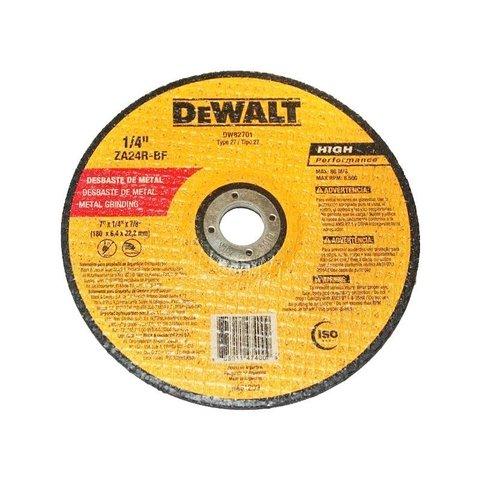 Disco Abrasivo Desbaste 7 X 1/4 X 7/8 DW82701 Dewalt
