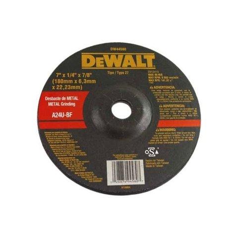 Disco Abrasivo de Desbaste 7 x 6mm x 7/8 DW44580 Dewalt