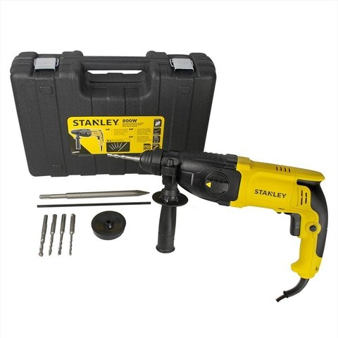 Martelete SDS Plus 26mm 800W Kit 6 Brocas SHR263KA Stanley
