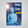 Quadro MDF Decorativo - Keep Calm and Stop