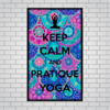 Quadro MDF Decorativo - Keep Calm and Yoga