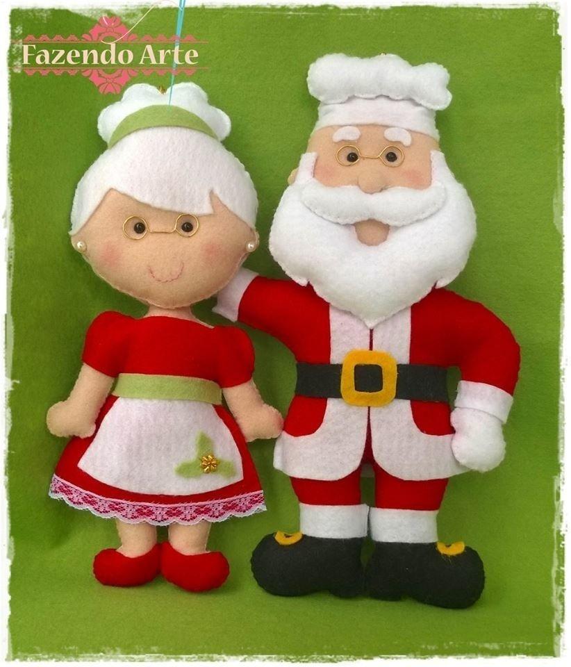 Enfeite Mamãe E Papai Noel Comprar Em Ninho De Mãe