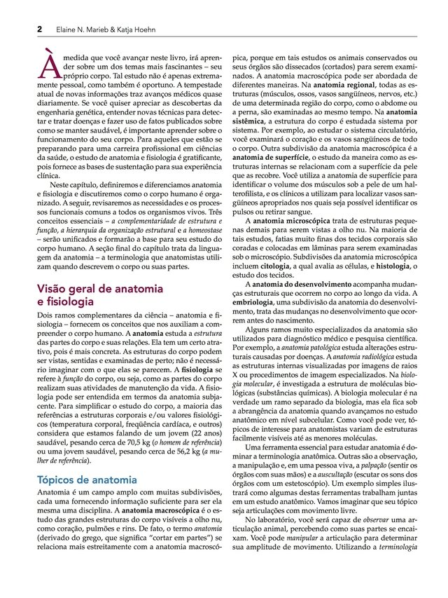 Elaine Marieb - Anatomia e Fisiologia, 3ª edição em PDF Pdf