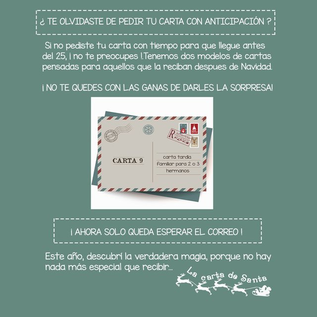 Carta Tardía familiar por Correo Simple